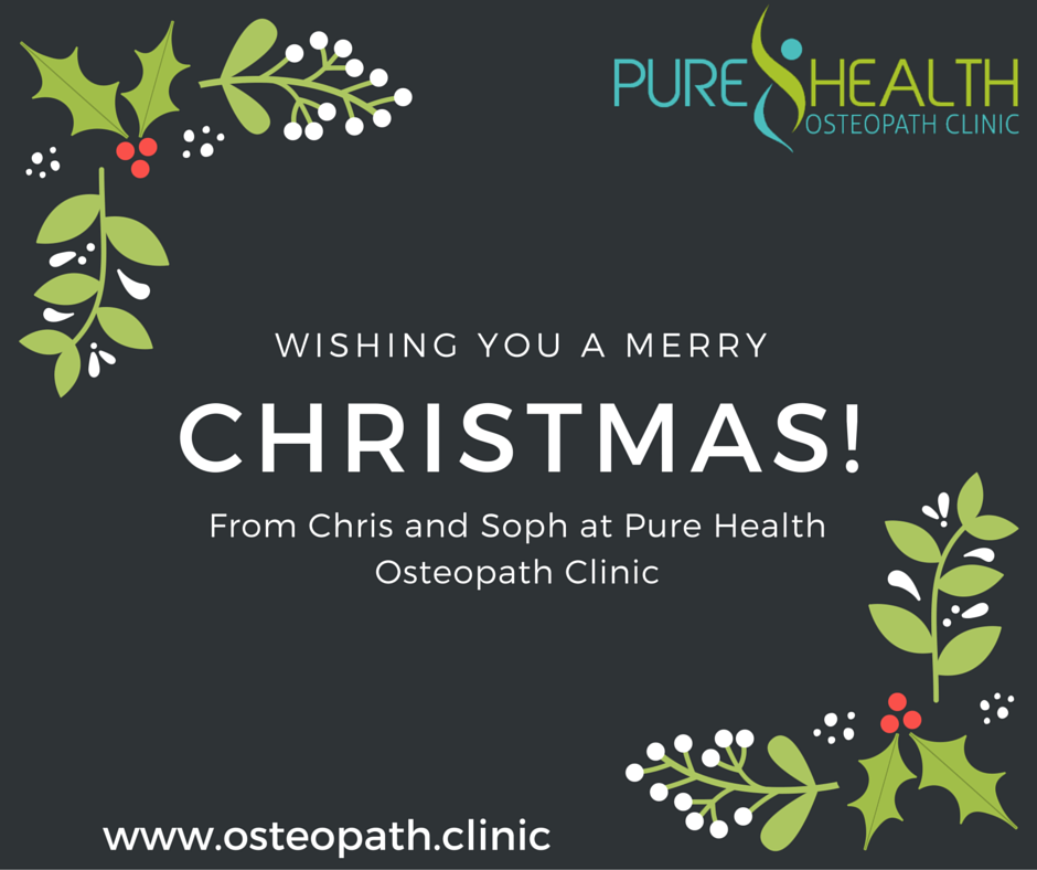 From Chris and Soph at Pure Health Osteopath Clinic