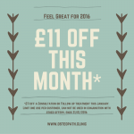 January Offer £11 OFF Osteopathy
