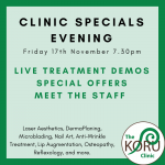 Koru Clinic Evening Event – Weston Super Mare