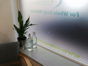 osteopath waiting area weston